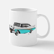 1958 Ford Fairlane 500 White & Light Blue Mug