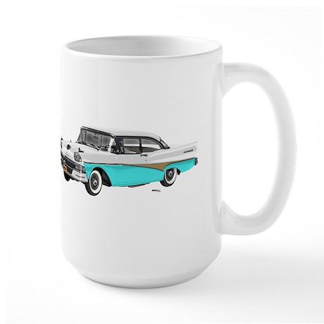 1958 Ford Fairlane 500 White & Light Blue Large Mu