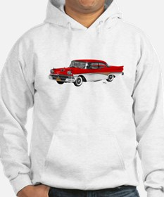 1958 Ford Fairlane 500 Red & White Hoodie