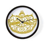 Second Heart Crown by Kristie Hubler Wall Clock