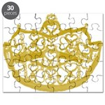Second Heart Crown by Kristie Hubler Puzzle