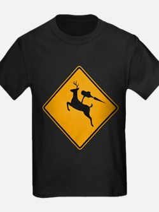 Deer Crossing Jetpack T-Shirt