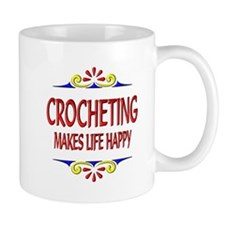Crocheting Happy Life Mug