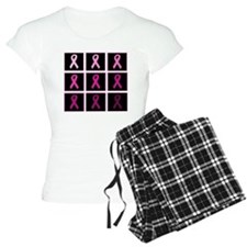 pink ribbon quadddd Pajamas