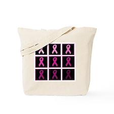 pink ribbon quadddd Tote Bag