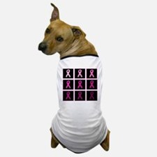 pink ribbon quadddd Dog T-Shirt