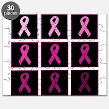 pink ribbon quadddd Puzzle