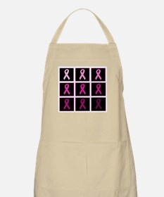 pink ribbon quadddd Apron