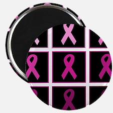 pink ribbon quadddd Magnet