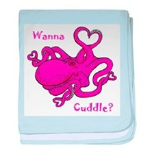 Valentine Octopus baby blanket