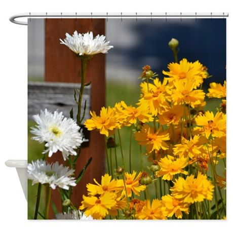 Yellow Wild Flowers Shower Curtain