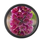 Foxglove Flowers Large Wall Clock