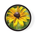 Black Eyed Susan Flower Wall Clock