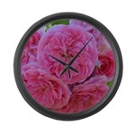 Pretty Pink Roses Large Wall Clock