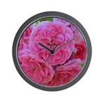 Pretty Pink Roses Wall Clock
