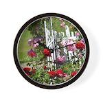 Gated Rose Garden Wall Clock
