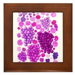 pink grapes and berries by Kristie Hubler Framed T