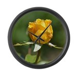 Yellow Rose Large Wall Clock