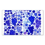 blue grapes and berries by Kristie Hubler Sticker