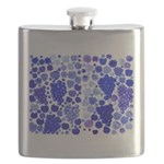 blue grapes and berries by Kristie Hubler Flask