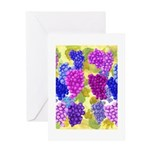 grapes with grape leaves vineyard Greeting Card