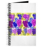 grapes with grape leaves vineyard Journal