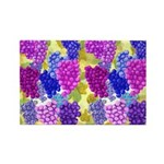 grapes with grape leaves vineyard Rectangle Magnet