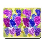 grapes with grape leaves vineyard Mousepad