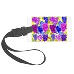 grapes with grape leaves vineyard Luggage Tag