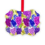 grapes with grape leaves vineyard Ornament