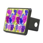 grapes with grape leaves vineyard Hitch Cover
