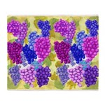 grapes with grape leaves vineyard Throw Blanket
