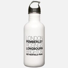 Pride and Prejudice Locations Sports Water Bottle
