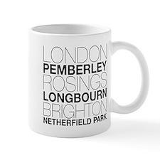 Pride and Prejudice Locations Small Small Small Mug