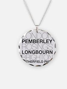 Pride and Prejudice Locations Necklace