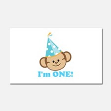 First Birthday Monkey Car Magnet 20 x 12