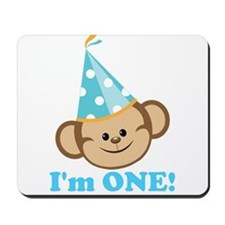 First Birthday Monkey Mousepad