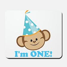 First Birthday Monkey Mousepad