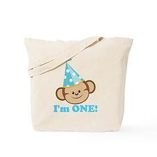 First Birthday Monkey Tote Bag