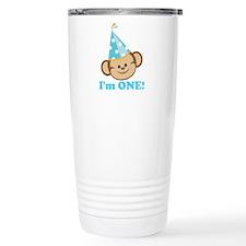 First Birthday Monkey Travel Mug