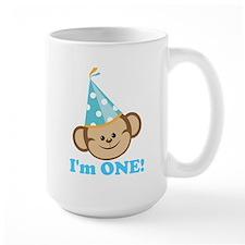 First Birthday Monkey Mug