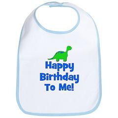 Happy Birthday To Me! Dinosau Bib