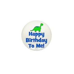 Happy Birthday To Me! Dinosau Mini Button
