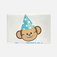 Second Birthday Monkey Rectangle Magnet