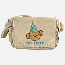 Second Birthday Monkey Messenger Bag