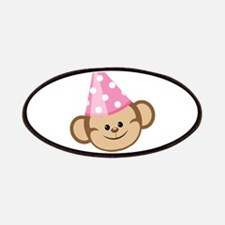 First Birthday Monkey Pink Patches