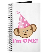 First Birthday Monkey Pink Journal