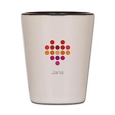 I Heart Jana Shot Glass