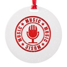 Ornament - Music red stamp