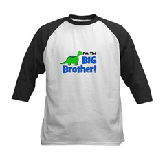 I'm The Big Brother! Dinosaur Kids Baseball Jersey